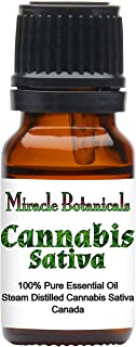 Miracle Botanicals Cannabis Sativa Essential Oil - 100% Pure Cannabis Sativa - 10ml or 30ml Sizes - Therapeutic Grade - 10ml