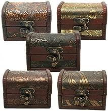 Baost 1Pc Vintage Metal Lock Wooden Storage Box Jewelry Treasure Organizer Chest Case Gift Box (Random)