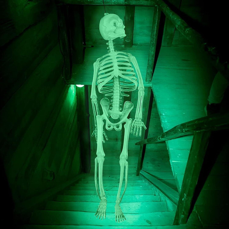 KINGGOO Skull security Halloween A surprise price is realized Luminous Skeleton Scary Body