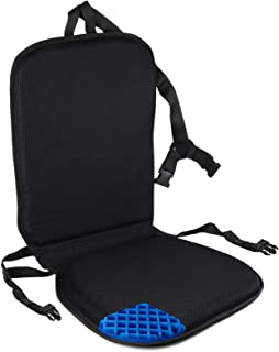 FOMI Premium All Gel Orthopedic Seat and Back Cushion Pad | Upper Lower Back Support Pillow for Car, Office, Kitchen Chair...