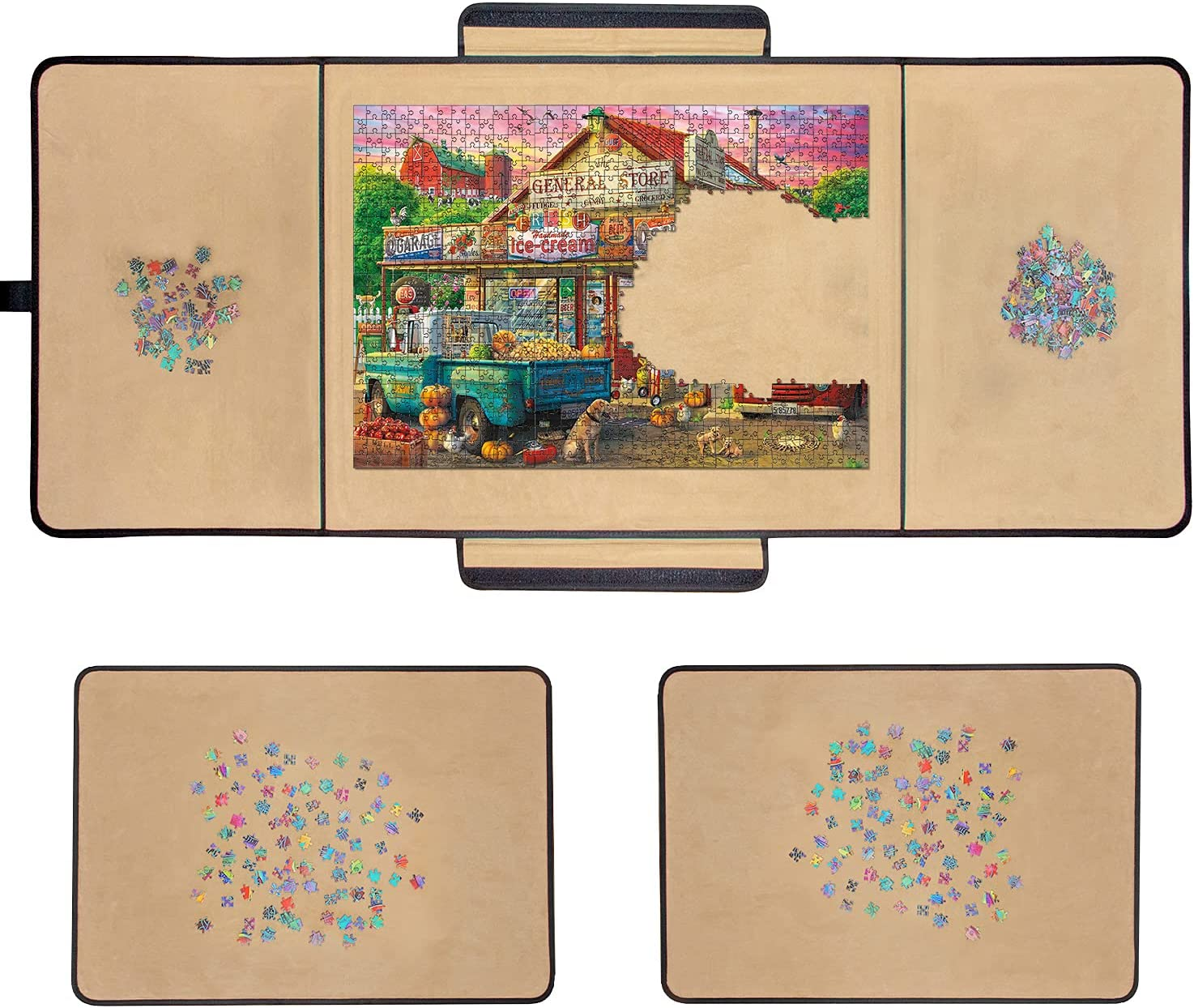 1000 Piece Jigsaw Puzzle Board Portable New color Tr - Spring new work 2 23