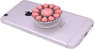 Collapsible Grip & Smart Phone Accessory for Cell Phone Self Adhesive Charm Western Flower No.18P