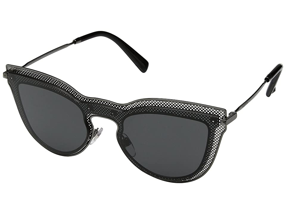 Valentino 0VA2018 (Ruthenium/Dark Smoke) Fashion Sunglasses