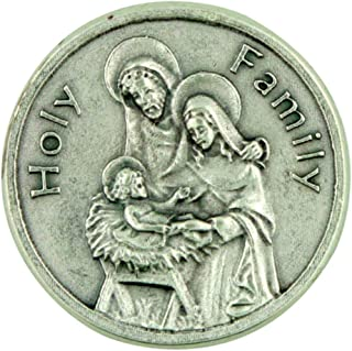 The Holy Family Saint Joseph Mary and Jesus Pocket Token with Prayer Back