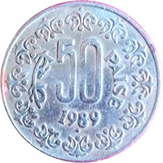 Very Old Indian 1989 Year 50 Paise Coin