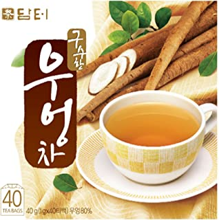 DAMTUH Korean Traditional 100% Pure Natural Healing Premiu Burdock Root Tea, 40 Bags (Burdock Tea)
