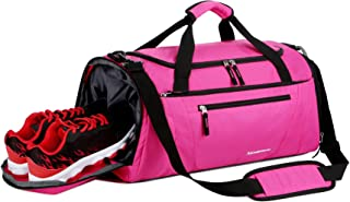 Mouteenoo Gym Bag 40L Sports Travel Duffel Bag for Men and Women with Shoes Compartment