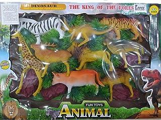 Jungle Animals Large Size 9 Animals Baby Figure