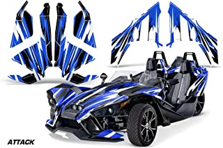 AMR Racing Graphics Polaris Slingshot SL 2015-2016 Vinyl Wrap Full Kit - Attack Blue