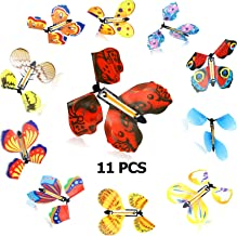 Sumind 11 Pieces Magic Flying Butterfly Rubber Band Powered Wind up Butterfly in The Book Classic Romantic Toys Gifts Cards for Birthday Anniversary Wedding