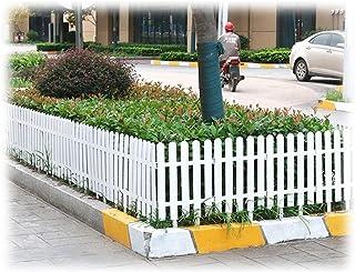 ZHANWEI White Garden Fence Picket Fencing, Outdoor Patio Decorative Flower Bed Decor Fences, 4 Sizes (Color : 50x32cm, Siz...