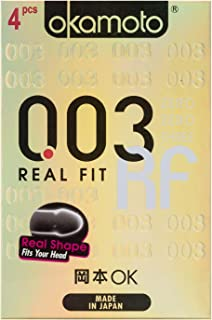 Okamoto 003 Real Fit Condoms, 4 ct