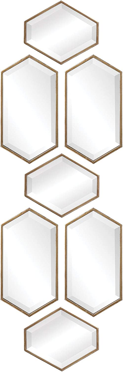 UKN Moroccan Mirrors Set Fees free of Contemporary Modern Silver 7 Ranking TOP5 Brown