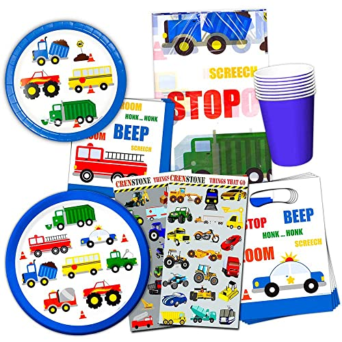 Cars And Trucks Party Supplies Ultimate Set