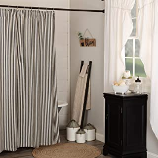 VHC Brands Ashmont Fabric Shower Curtain, 100% Cotton...