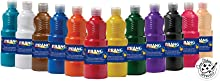 Prang Ready-to-Use Tempera Paint, Assorted Colors, 12 Count (X21696)