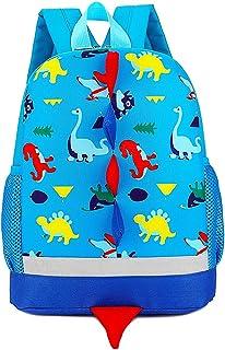 Mochila Infantil de Dinosaurios Mochila para Niños Infantil Guarderia Mochila Escolar (Azul claro)