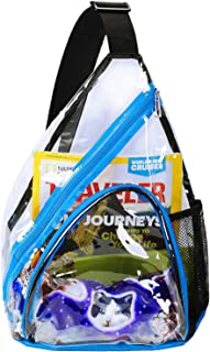 Clear PVC Sling Packs for Women & Men Stadium Approved, Perfect for College, Travel, Beach, Concerts