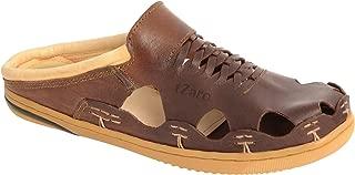 tZaro Genuine Leather RONNY4106DKCHC Cushioned Sandals