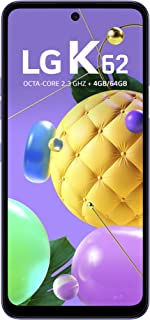 """Smartphone LG K62 Azul, com Tela de 6,59"""", 4G, 64GB e Câmera Quádrupla de 48MP+5MP+2MP+2MP - LMK520BMW"""