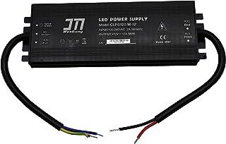 JMWaaBong Power Supply 12VDC 10A 120W Waterproof IP67 Outdoor Aluminum 18mm Slim 110V 120V 12V Converter Constant Voltage ...