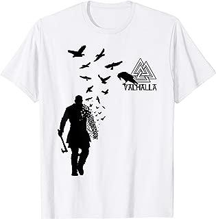 Viking Ragnar Lodbrok Valhalla Odin Ravens T-Shirt
