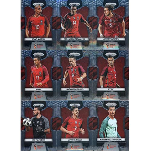 ed0fd0d4814 2018 Panini Prizm World Cup Soccer Portugal Team Set of 9 Cards: Cristiano  Ronaldo(