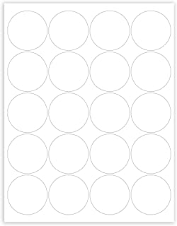 Mr-Label –Matte Frosted Clear Round Seal Label – Inkjet and Laser Print – US Letter Sheet Size –Waterproof See-Through Stickers – 20 Labels per Sheet - for Food Package | Bottle | Jar | Envelope (10)