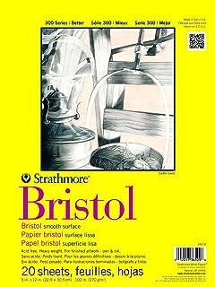 Pro-Art Paper Strathmore Papel Liso de Bristol, 22,9 x 30,5 cm, 20Hojas