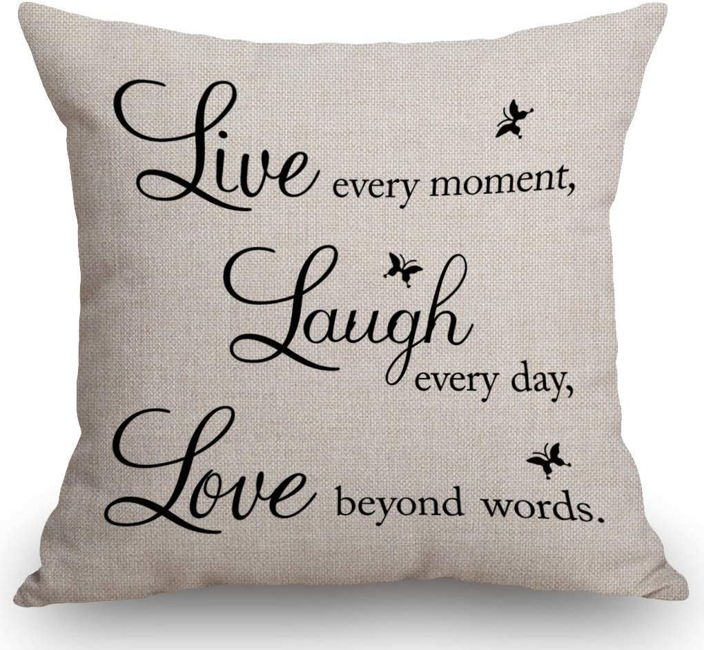 SSOIU Live Every Moment Laugh Day Beyond Cotton Love Lin New item Max 66% OFF