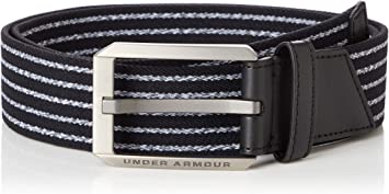 Under Armour UA Men's Stretch Belt Cómodo Cinturón De Hombre, Accesorio Para Hombre Hombre Negro (Black) 30