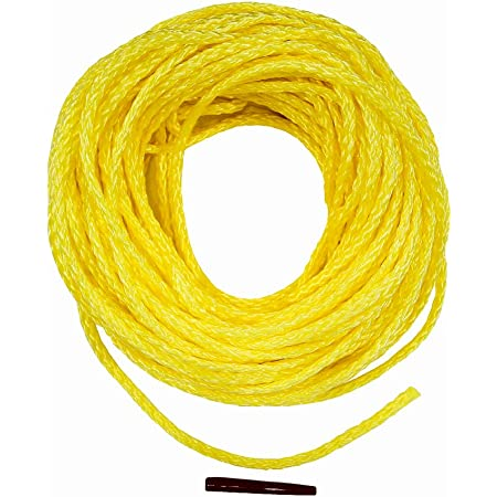 SGT KNOTS Hollow Braided Polyethylene Rope High Grade for Outdoors Concerts 1//4 x 25ft Coil, Yellow Crafting
