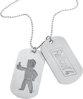 Fallout 4 Logo and Vault Boy Approves Pair of Dog Tags (Silver)