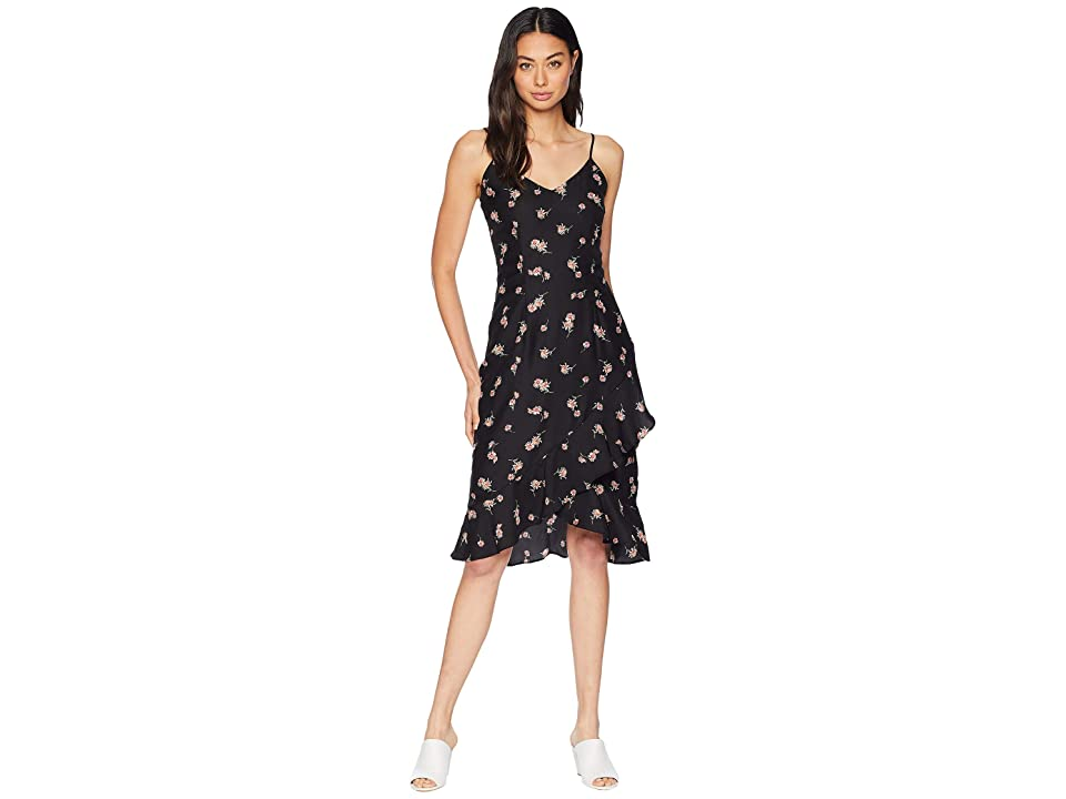 BB Dakota All Eyes On You Floral Print Dress (Black) Women