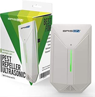 Ultrasonic Pest Repeller - Easy & Humane Way to Reject Rodents Ants Cockroaches Beds Bugs Mosquitos Fly Spiders Rats & Buts - Eco-Friendly & Safe for Human & Home Pets -1 in Pack