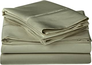 1200 Thread Count 100% Egyptian Cotton, Single Ply, California King Bed Sheet Set, Solid, Sage