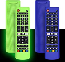 Best 2Pack Silicone Case for LG AKB75095307 AKB75375604 AKB74915305 Remote, Alquar Shockproof Anti-Lost Remote Cover Holder Skin Sleeve Protector for LG Smart TV Remote Control (Glow Green+Blue) Review