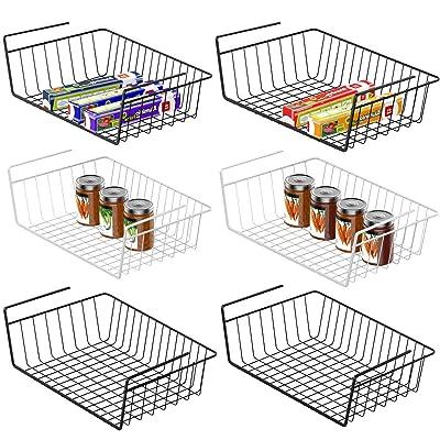 Under Shelf Basket, Veckle 6 Pack Under Shelf W...