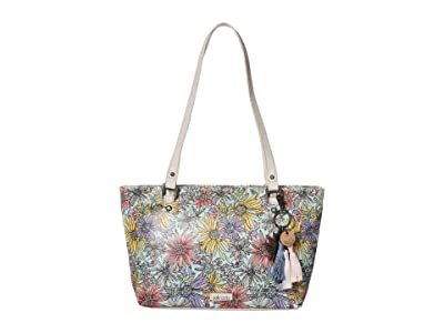 Sakroots Artist Circle Small Satchel (Pastel Flower Garden) Tote Handbags