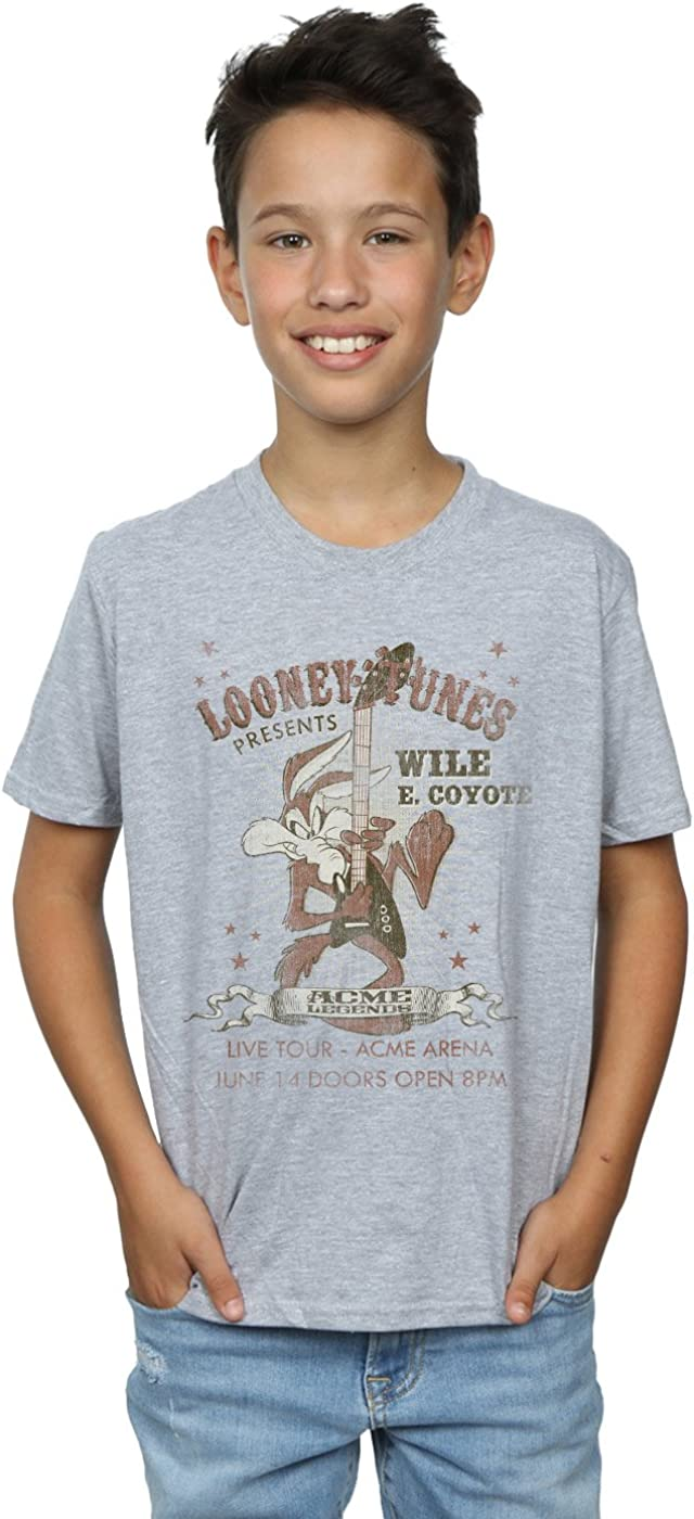 Looney Tunes Boys Wile E Coyote Guitar T-Shirt