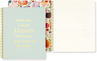 Kate Spade New York Large Spiral Notebook (Quote- Flowers)