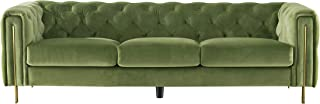 Acanva Luxury Chesterfield Vintage Tufted Velvet Living Room Sofa, Couch, Mint green