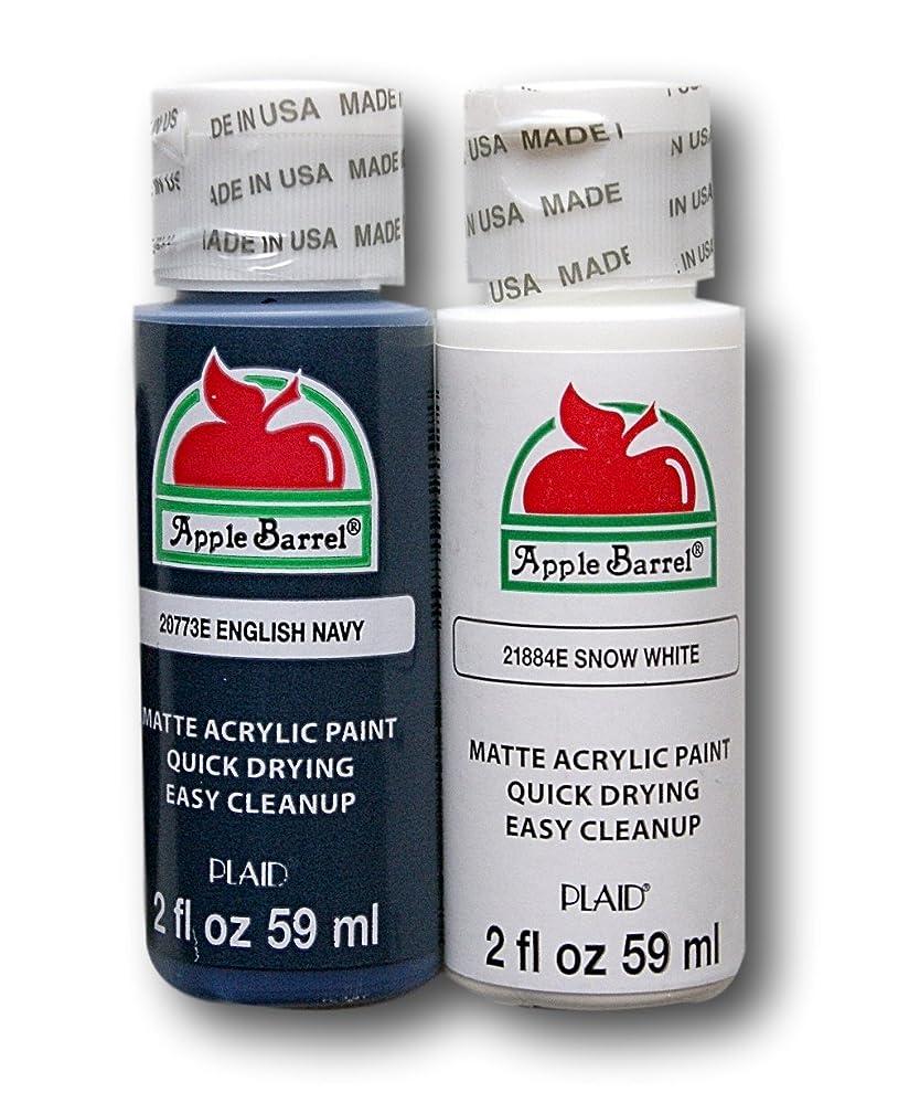 Apple Barrel Acrylic Paint Set - English Navy & Snow White (2 Ounces Each)