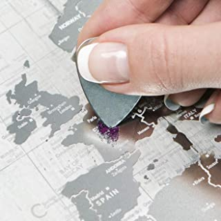 Transparent Scratch Off World Map - Premium Edition - 37.8