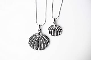 USA Handmade Pumpkin Halloween Fall Jewelry Pendant Necklace Pewter