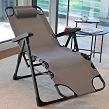 Zero-Gravity Chair,Recliner And Folding Chair,Multifunctional And Dual-Purpose Lunch Break Office Folding Bed,90°~180° Flat Reclining Chair,Ergonomic,E