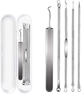 5 PCS Blackhead Remover Kit, Stainless Steel Acne Spot Treatment Comedone Extractor Kit