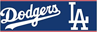 York Wallcoverings ZB3299BD L.A. Dodgers Prepasted Border, Bright White/Scarlet Red