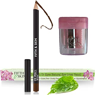 Sponsored Ad - Fifth & Skin Better'n Ur Eyes Eyeliner Pencil (BROWN) PLUS FREE SHARPENER! – NATURAL - Hypoallergenic - Sen...