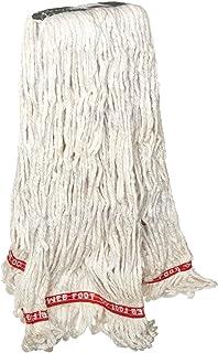 Rubbermaid Commercial Web Foot Shrinkless Wet Mop, Medium, 1-Inch Green Headband, White (FGA21206WH00)